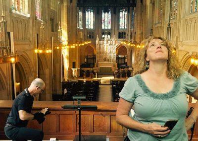 WDP Photoshoot: Photographer Richard Morgenstein and Partner Leslie Belingheri Inside St. Dominic's Church
