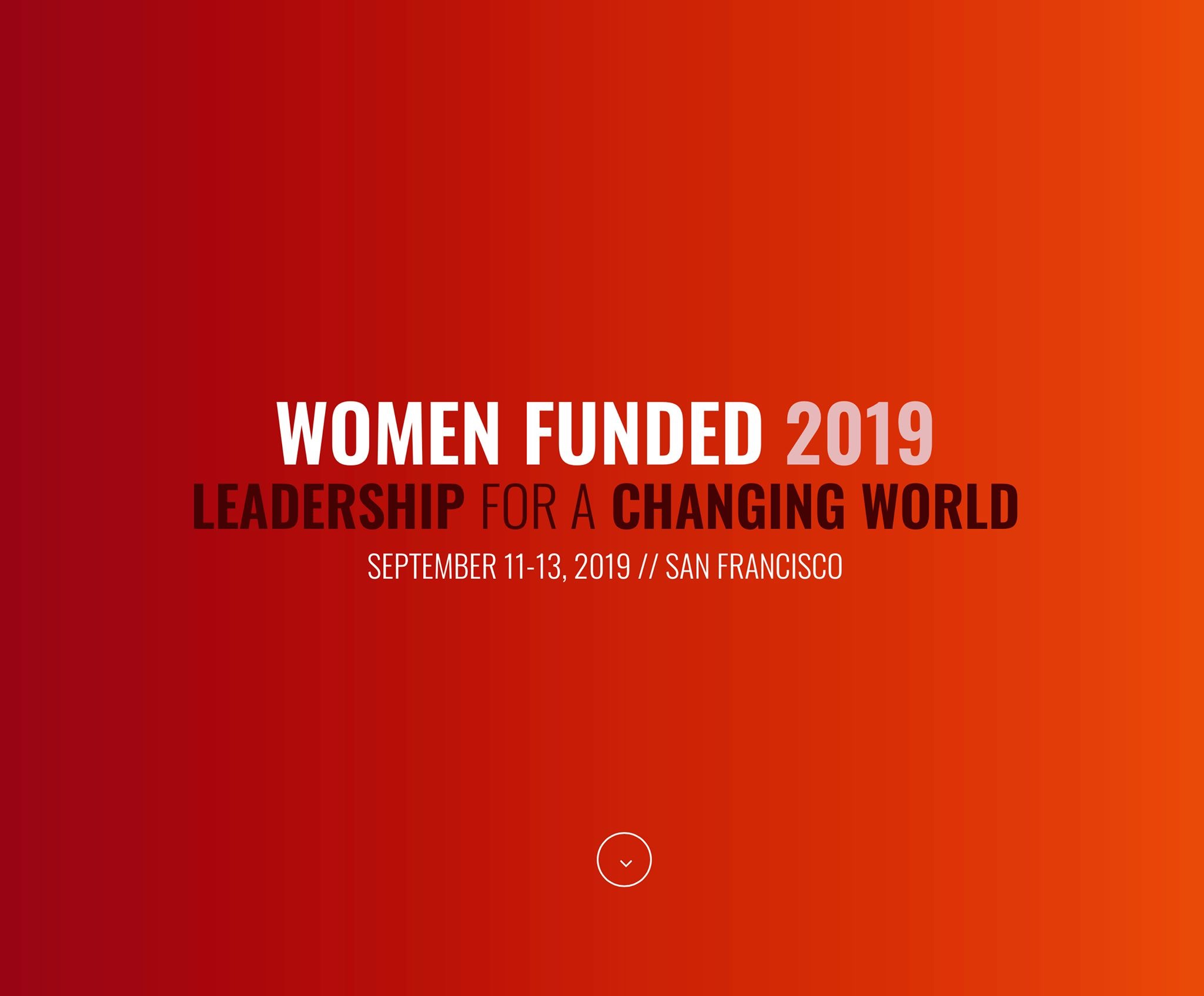 Women Funded 2019 Conference Graphic